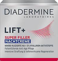 Diadermine Lift+ Super Filler Hyaluron Anti-Age Nachtcreme - Гиалуроновый антивозрастной ночной крем, 50 мл