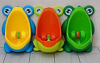 """Детский писсуар """"Лягушка"""". В наличии салатовый с оранжевым и зеленая!"""