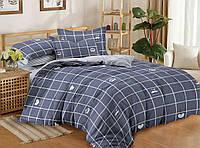 Комплект постельного белья (12112) двуспальное евро 200*220 (простынь на резинке) бязь Ранфорс, фото 1