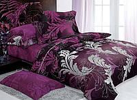 Комплект постельного белья (12115) двуспальное евро 200*220 (простынь на резинке) бязь Ранфорс , фото 1