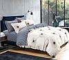 Комплект постельного белья (12124) двуспальное евро 200*220 (простынь на резинке) бязь Ранфорс