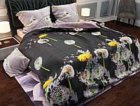 Комплект постельного белья (13820) двуспальное евро 200*220 (простынь на резинке) бязь Ранфорс