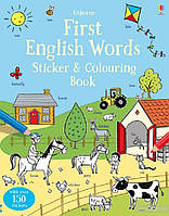First English Words. Sticker and Colouring Book