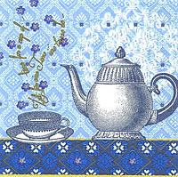 Салфетка декупажная Чайник и чашка 4109