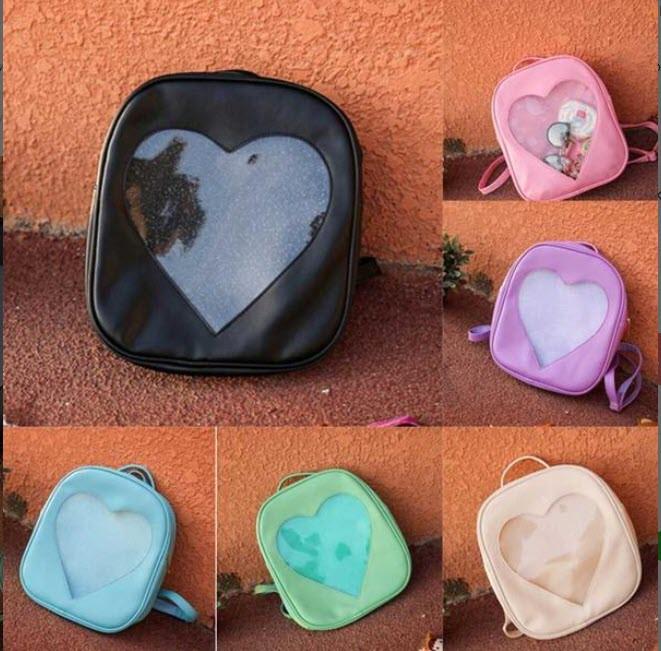 Романтичний рюкзак з прозорим серцем