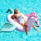 Надувной круг единорог, плот, белый единорог с крыльями, белый плотик для бассейна, фото 2