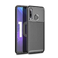 Чехол Carbon Case Huawei P Smart 2019 / Honor 10 Lite Черный