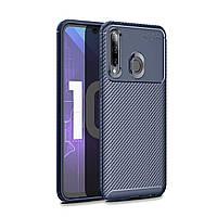 Чехол Carbon Case Huawei P Smart 2019 / Honor 10 Lite Синий
