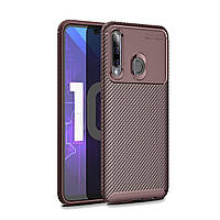 Чехол Carbon Case Huawei P Smart 2019 / Honor 10 Lite Коричневый