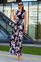 Женское цветочное платье-макси без рукавов (Моника jd)