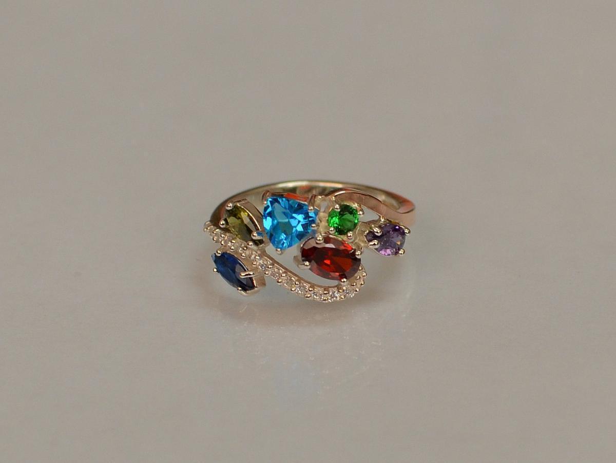 Серебряное кольцо Silver Style с золотыми вставками