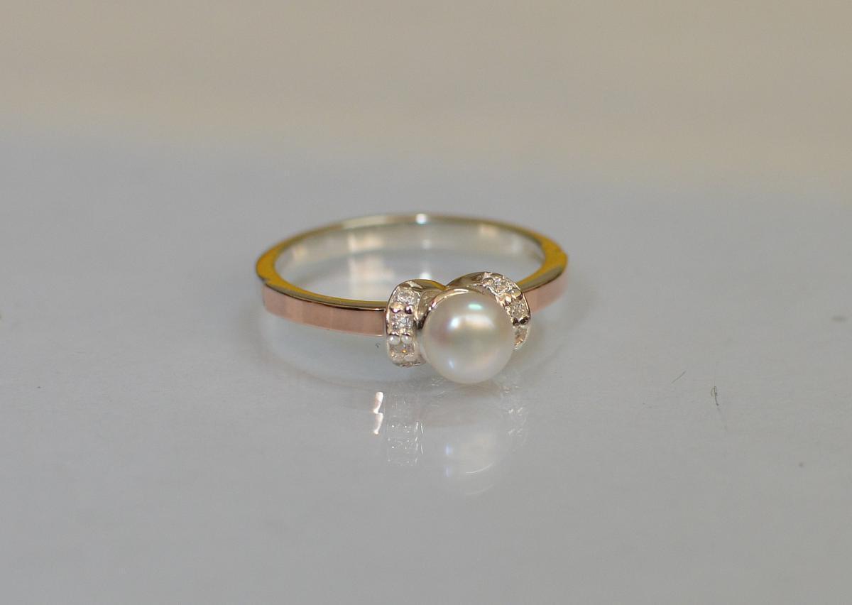 Серебряное кольцо Silver Style с золотыми пластинами