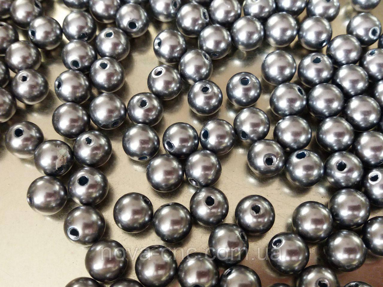 "Бусины  ""шарик"" серый 500 грамм"