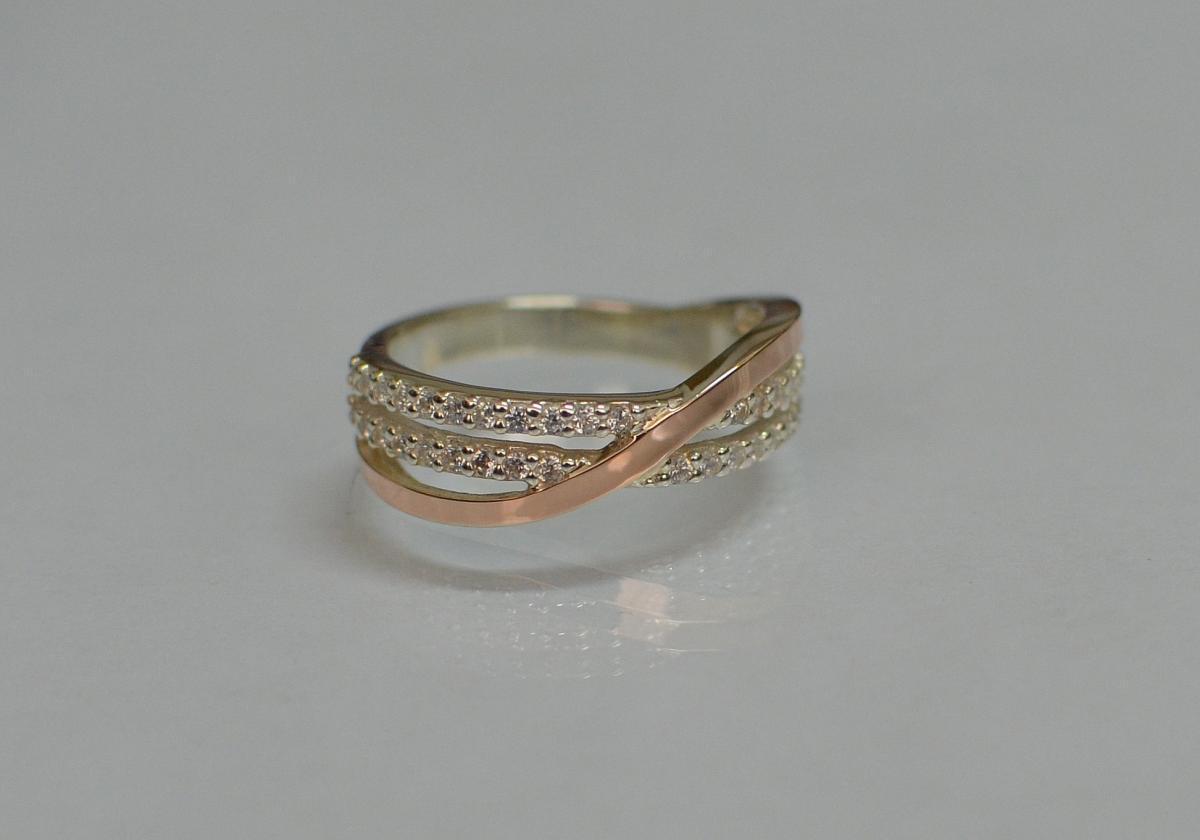 Серебряное кольцо Silver Style с золотом