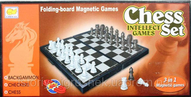 Шахматы 3038 А /466-748 (96/2) магнит,3в1,шашки,нарды,в кор-ке