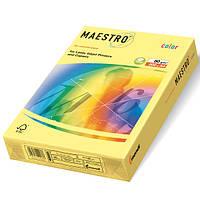 Цветная офисная бумага Maestro Color YE23  Yellow (желтый) А4  80г/м2  500