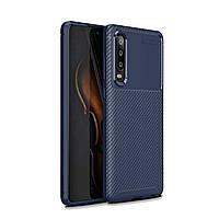 Чехол Carbon Case Huawei P30 Синий