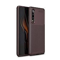 Чехол Carbon Case Huawei P30 Коричневый