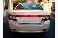 Chevrolet Epica 2006↗ гг. Хром полоска на багажник (нерж) - Chevrolet Epica 2006+ гг.