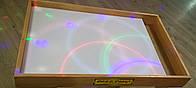 Планшет светодиодный с отсеком для песка Макси 1000×600 Ясень цветной светодиод. А24