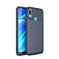 Чехол Carbon Case Huawei Y7 Pro 2019 Синий
