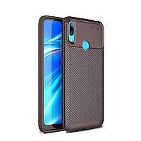 Чехол Carbon Case Huawei Y7 Pro 2019 Коричневый