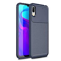 Чехол Carbon Case Huawei Y6 2019 / Honor 8A Синий