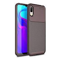 Чехол Carbon Case Huawei Y6 2019 / Honor 8A Коричневый