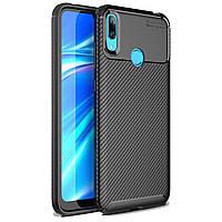 Чехол Carbon Case Huawei Y7 2019 Черный