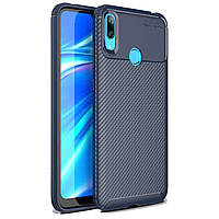 Чехол Carbon Case Huawei Y7 2019 Синий