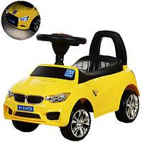 Машинка-толокар BMW желтый