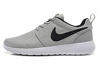 Найки рош ран Nike Roshe Run 1 серые с черным значком