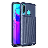 Чехол Carbon Case Huawei P30 Lite / Nova 4e Синий