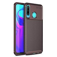 Чехол Carbon Case Huawei P30 Lite / Nova 4e Коричневый