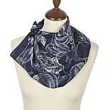 10071-14, павлопосадский шейный платок (крепдешин) шелковый с подрубкой, фото 2
