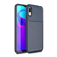 Чехол Carbon Case Huawei Y6 Pro 2019 / Enjoy 9e Синий