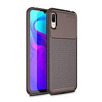 Чехол Carbon Case Huawei Y6 Pro 2019 / Enjoy 9e Коричневый