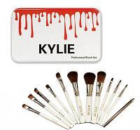 Набор кистей для макияжа 12в1 Kylie Professional Brash Set белый