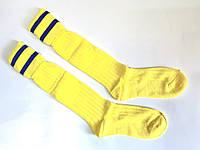 Гетры футбольные юниорские желтые носок х/б р. 32-39, фото 1