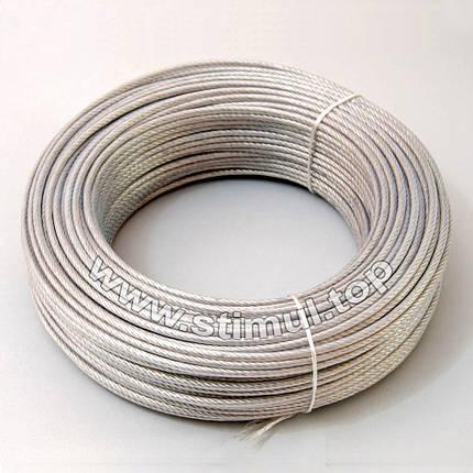 Канат стальной ПВХ 4/5 мм (трос оцинкованный в оплётке), фото 2