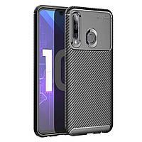 Чехол Carbon Case Huawei P Smart Plus 2019 / Honor 10i Черный