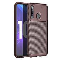 Чехол Carbon Case Huawei P Smart Plus 2019 / Honor 10i Коричневый