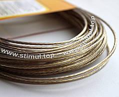 Трос бельевой металлополимерный 3 мм х 20 м – канат стальной в ПВХ оболочке