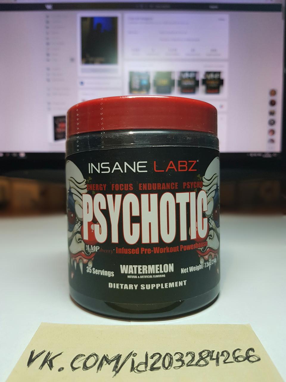 Предтренировочный комплекс Insane Labz Psychotic 35 порций