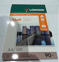 Фотобумага Lomond 90 г/м, матт, А4 100л
