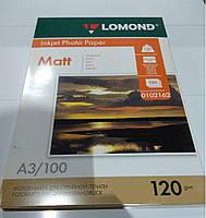 Фотобумага Lomond 120 г/м, матт, А3100л