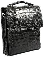 Розпродаж! Чоловіча сумка через плече шкіра Karya 0811-53 чорний Туреччина, фото 2