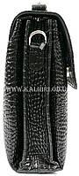Розпродаж! Чоловіча сумка через плече шкіра Karya 0811-53 чорний Туреччина, фото 4