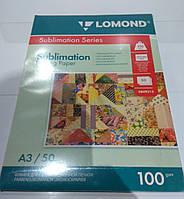 Бумага сублимационная Lomond А3 100 гр 50 л