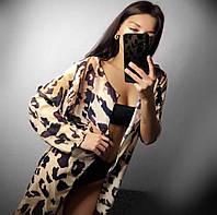 Леопардовая пляжная женская накидка, фото 1